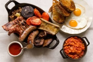 Full English Breakfast van